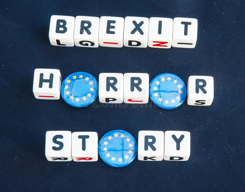 Brexit a horror story royalty free stock images
