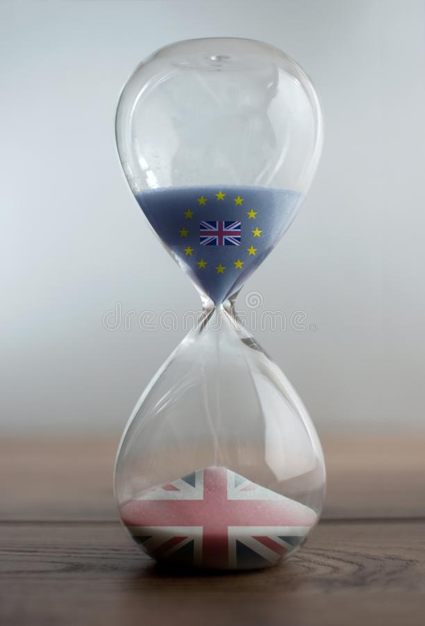 Brexit hourglass stock image