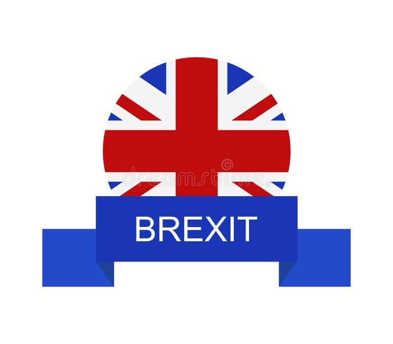 Brexit ikona ilustrująca ilustracja wektor