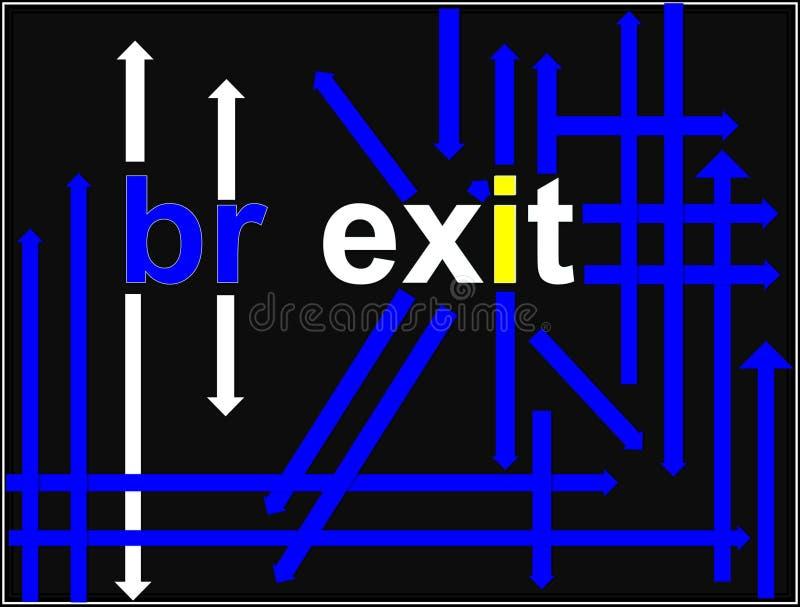 Brexit Immagine di nuova politica economica Icona economica illustrazione di stock