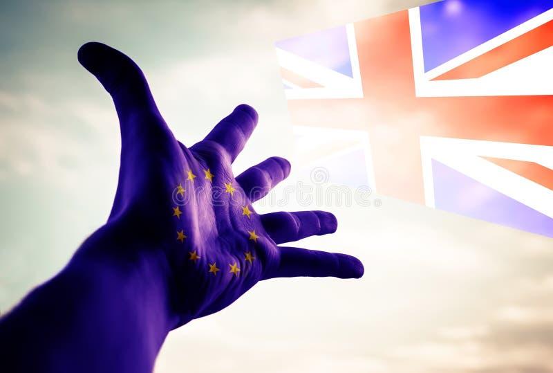 Brexit - Konceptualny wizerunek zdjęcia stock