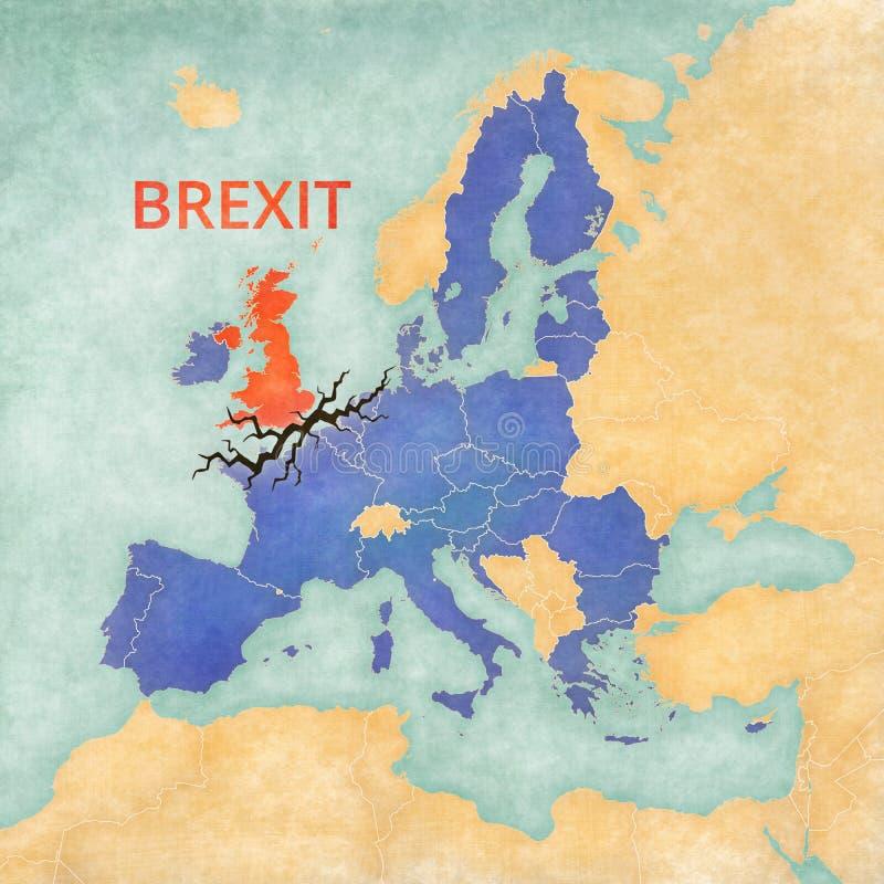 Brexit - le Royaume-Uni et Union européenne illustration de vecteur