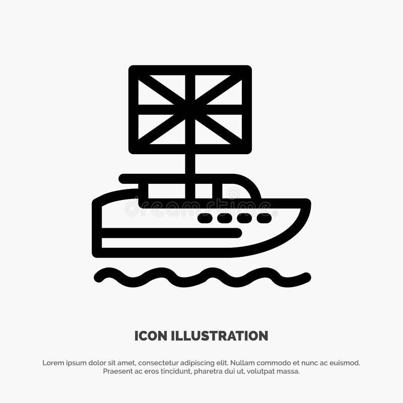 Brexit, les Anglais, européens, royaume, ligne britannique vecteur d'icône illustration stock