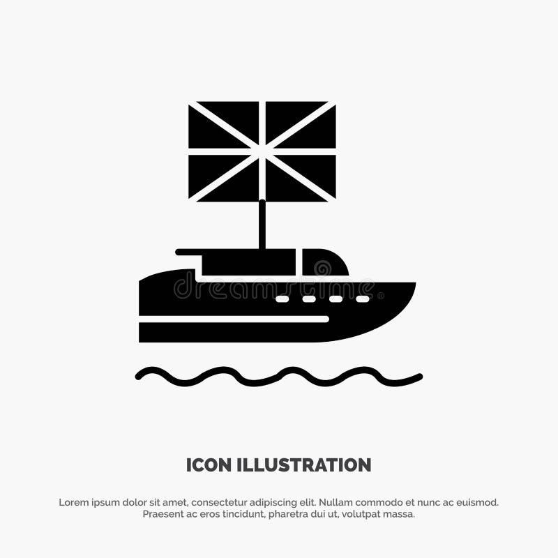 Brexit, les Anglais, européens, royaume, vecteur solide britannique d'icône de Glyph illustration libre de droits