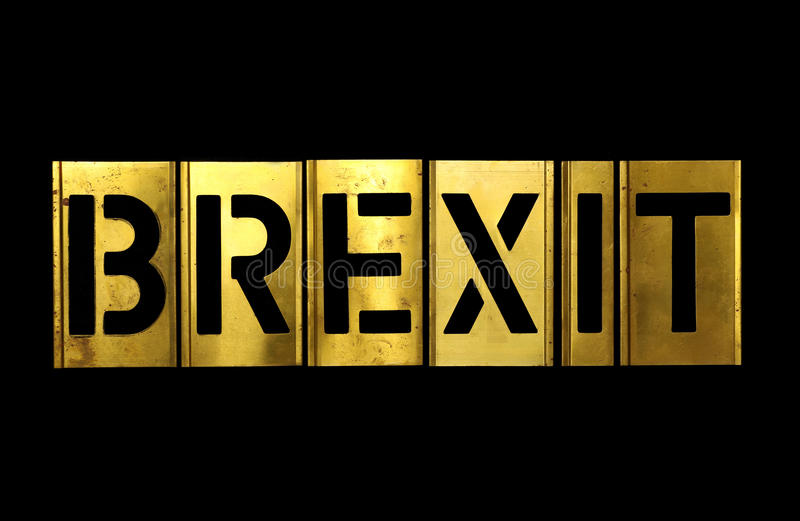 Brexit-Militär schabloniert Armee-Buchstaben lizenzfreies stockfoto