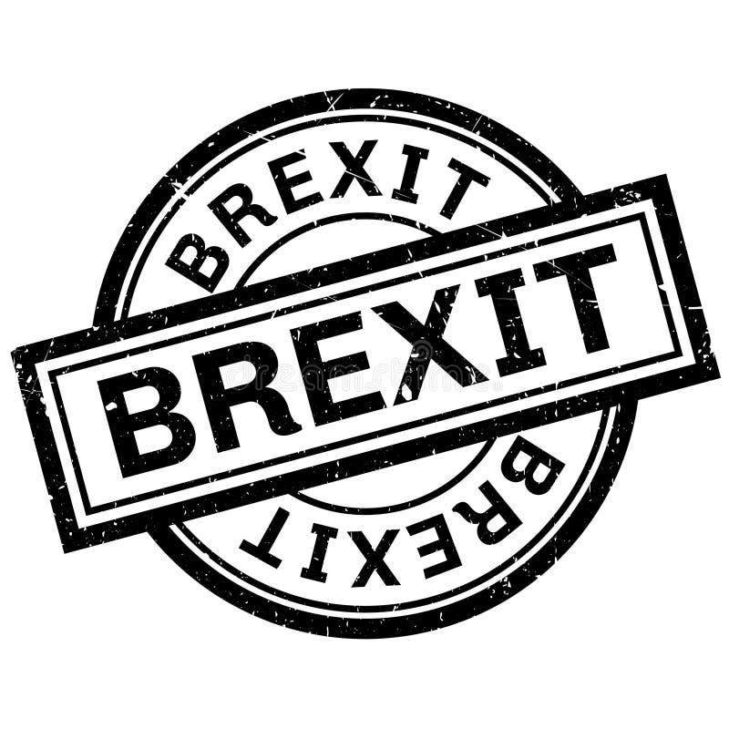 Brexit pieczątka royalty ilustracja