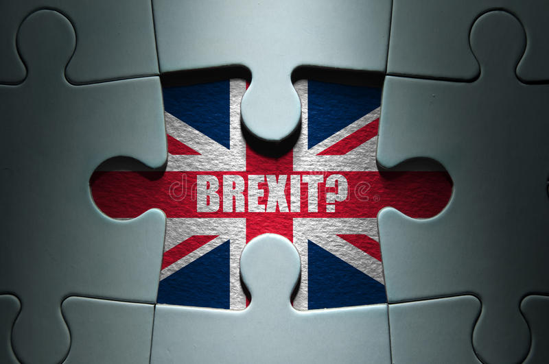 Brexit pojęcie obrazy stock