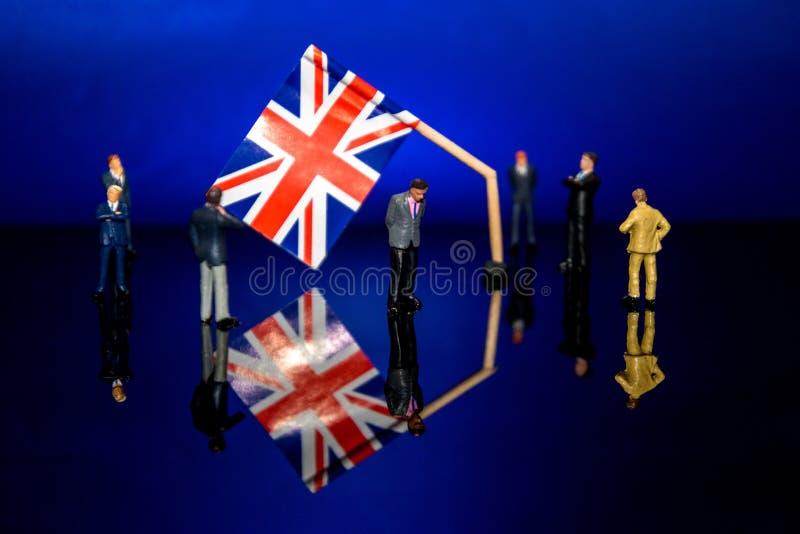 Brexit quebrado fotografia de stock