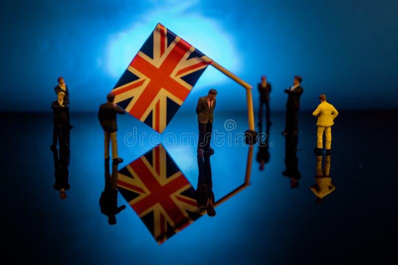 Brexit quebrado imagens de stock royalty free