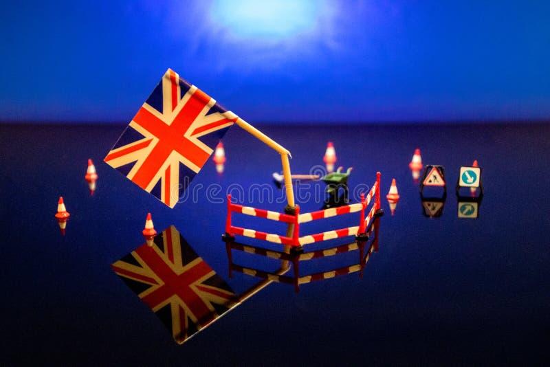 Brexit quebrado fotografia de stock royalty free