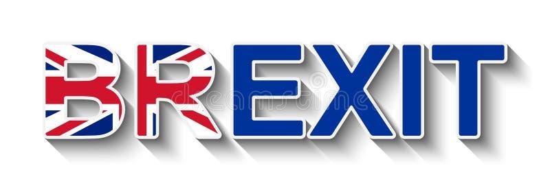 BREXIT - retiro BRITÁNICO de la UE ilustración del vector
