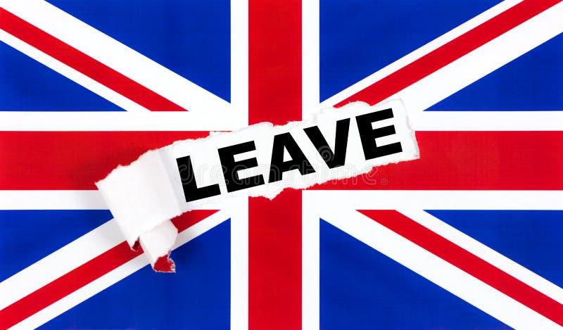 Brexit, retiro del Reino Unido de la UE foto de archivo libre de regalías
