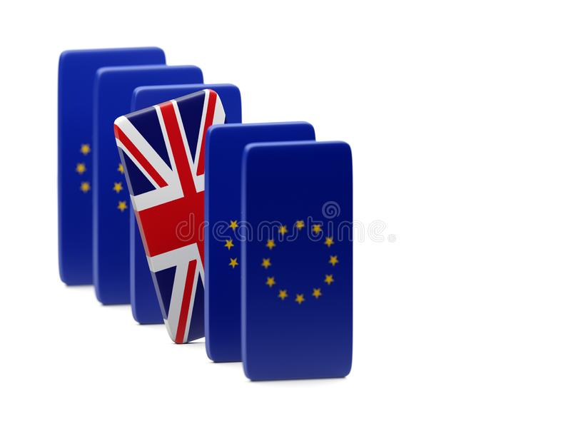 Brexit seul R-U en Europe essayant de sortir photos libres de droits