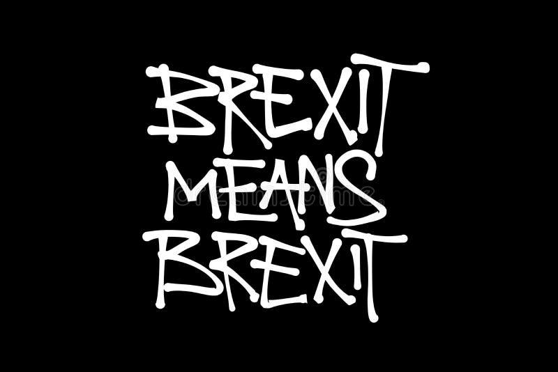 Brexit significa el brexit ilustración del vector