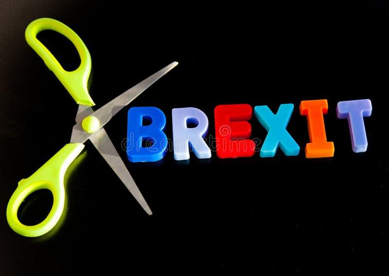 Brexit snitt arkivfoton