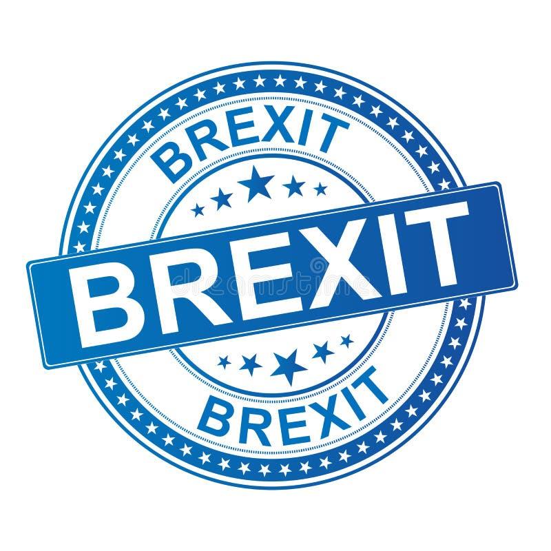 Brexit stempluje brexit Britain szyldowego uk opuszcza eu ilustracji
