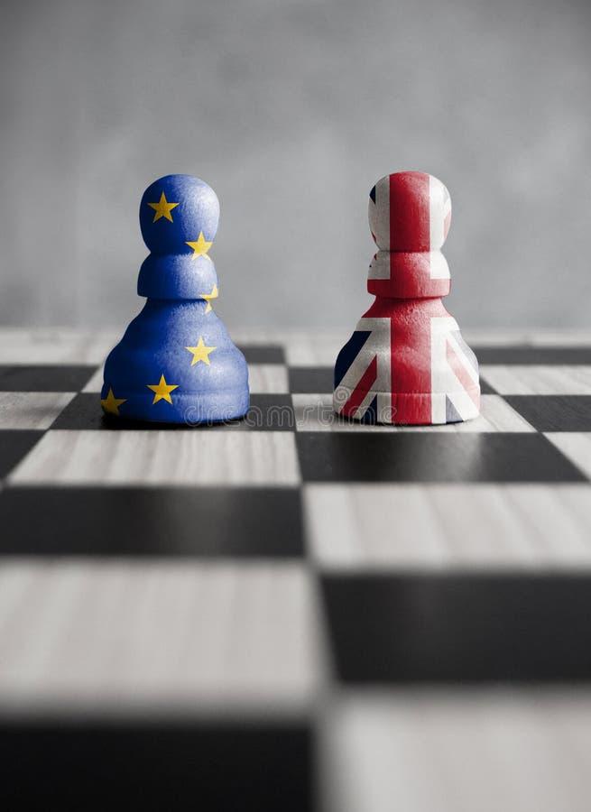 Brexit strategii pojęcie fotografia stock