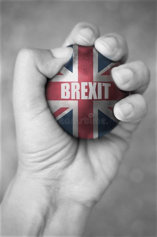 Brexit stresu piłka zdjęcie stock