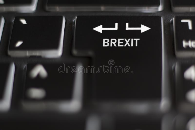 Brexit sur l'affaire de clavier d'ordinateur ou aucun concept d'affaire photographie stock libre de droits