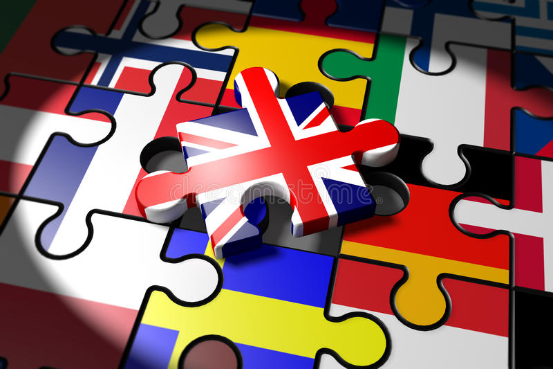 Brexit, Symbol of the Referendum UK vs EU royalty free illustration