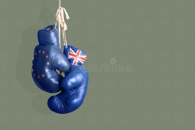 Brexit, symbol referendum UK vs UE ilustracja wektor