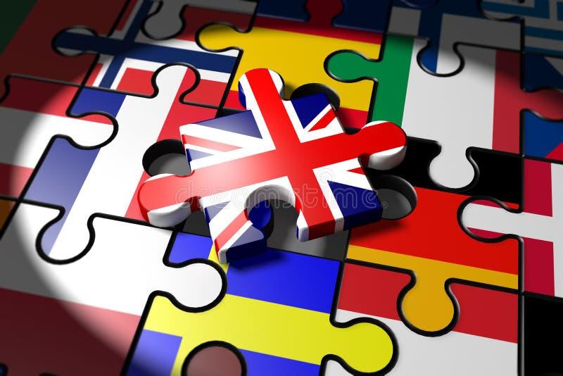 Brexit, symbol referendum UK vs UE royalty ilustracja