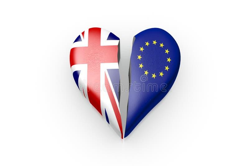 Brexit, symbol referendum UK vs UE ilustracji