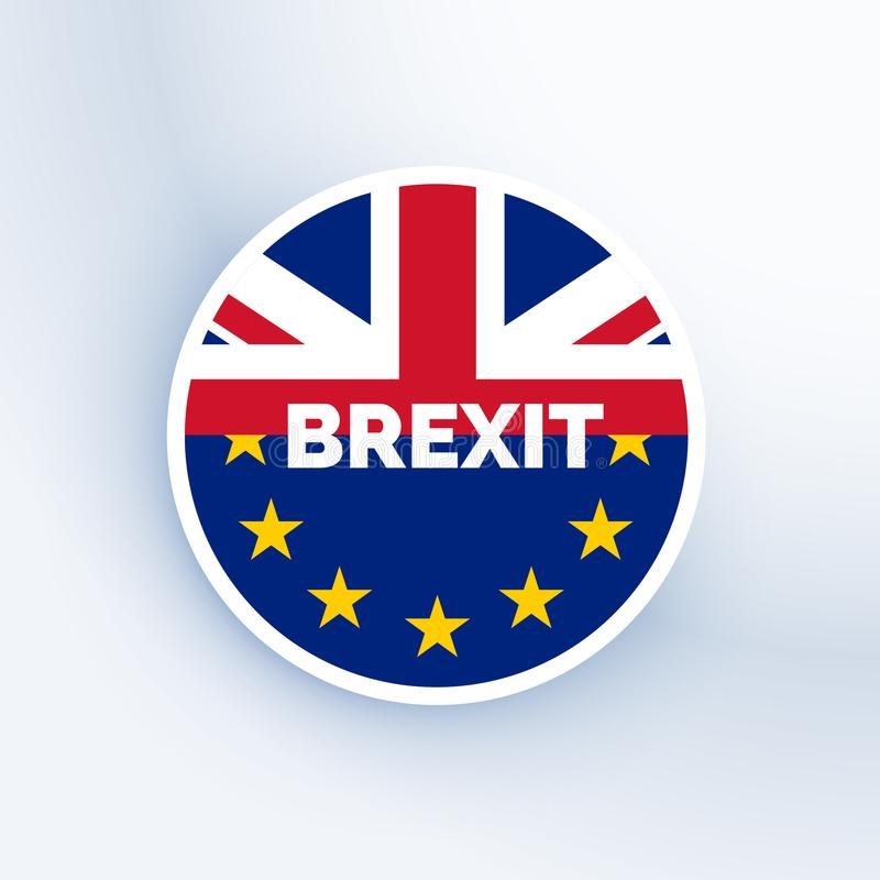 Brexit symbol with uk and eu flag royalty free illustration