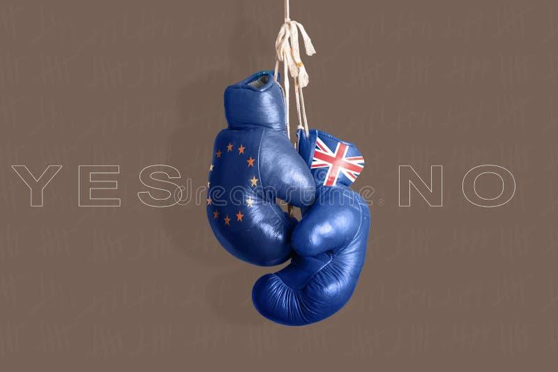 Brexit, Symbool van het Referendum het UK versus de EU royalty-vrije illustratie