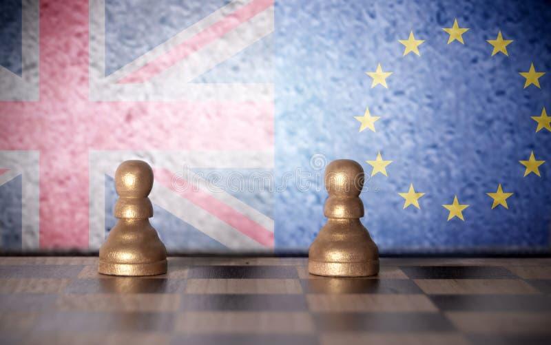 Brexit szachy pojęcie obraz stock