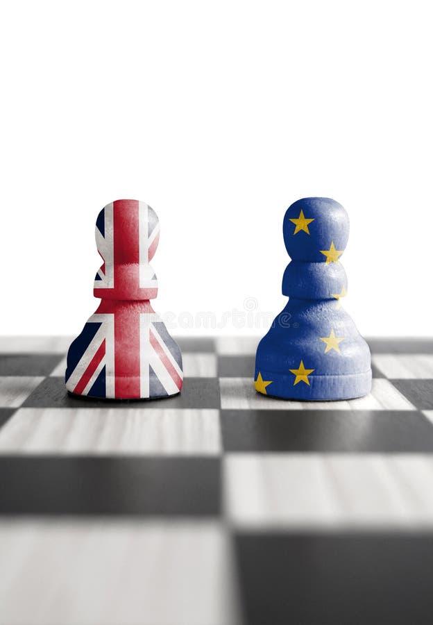 Brexit szachy pojęcie zdjęcie royalty free