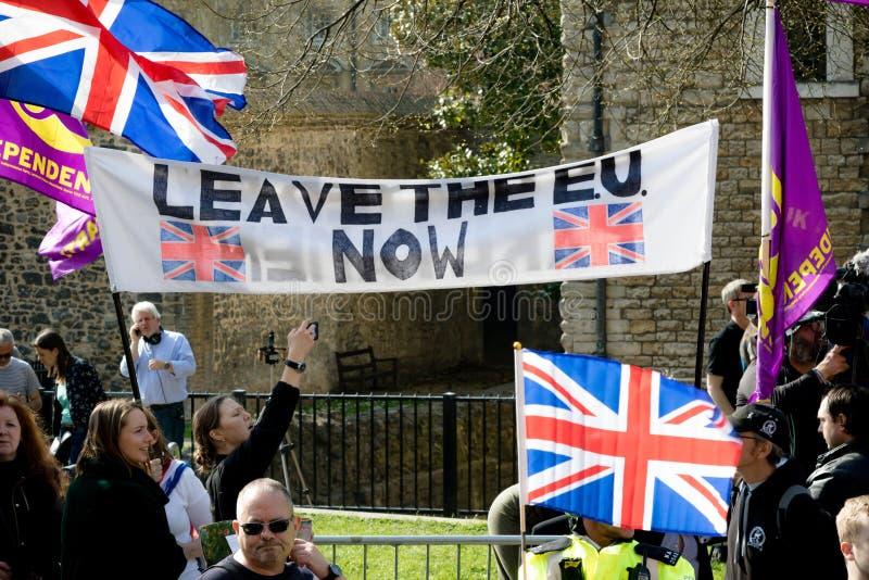 Brexit-Tagesprotest in London lizenzfreies stockfoto