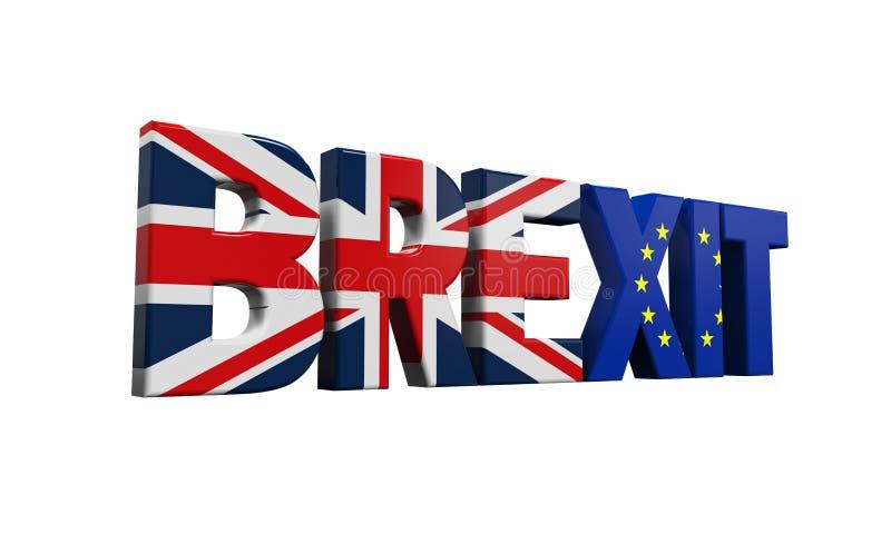 Brexit Text royalty free illustration