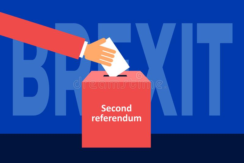 Brexit - tweede referendum vector illustratie