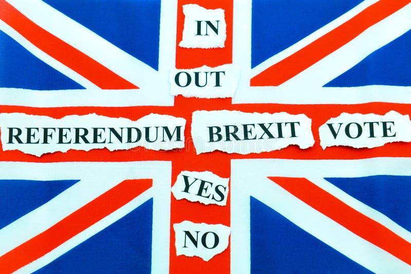 Brexit UK EU-folkomröstning royaltyfria bilder