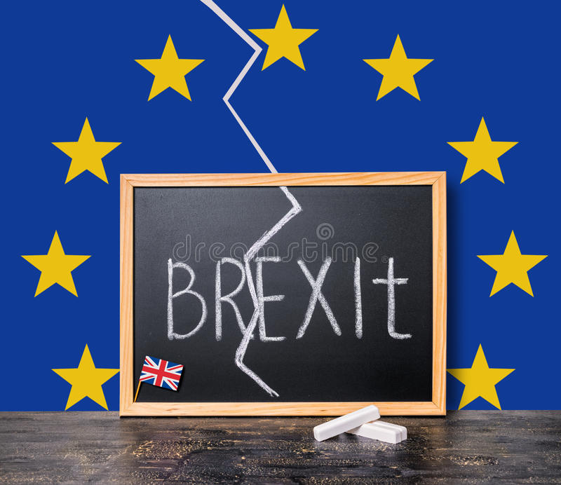 Brexit UK EU referendum concept cut Great Britain apart from res royalty free stock images