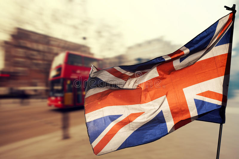 Brexit: UK flag and London royalty free stock image
