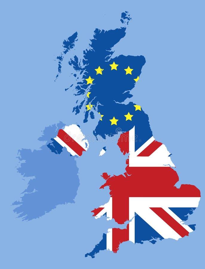 Brexit und Schottland lizenzfreie abbildung