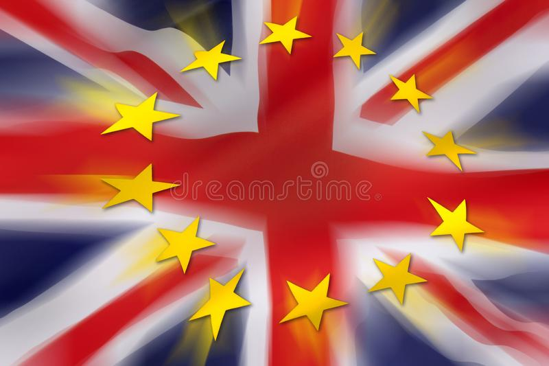 BREXIT - United Kingdom. BREXIT - The United Kingdom departs from the European Union stock illustration
