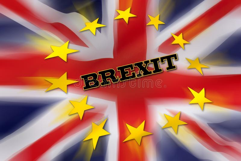 BREXIT - United Kingdom. BREXIT - The United Kingdom departs from the European Union royalty free illustration