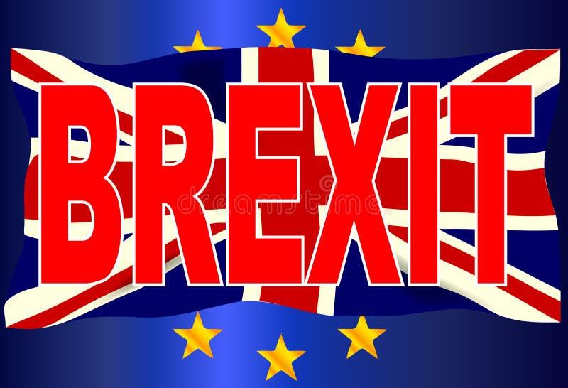 Brexit-Verbands-Jack Over EU kennzeichnen vektor abbildung