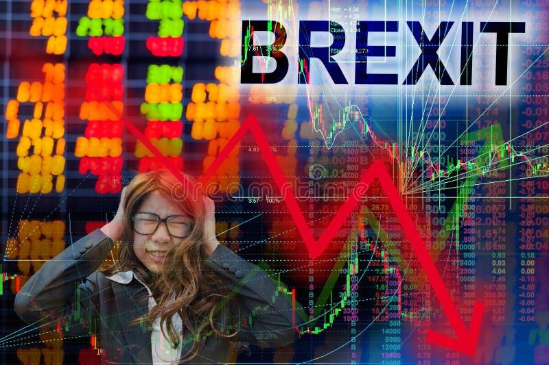 Brexit verkoopt op feit royalty-vrije stock foto's
