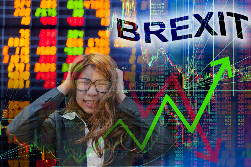 Brexit in voorraadgrafiek royalty-vrije stock afbeelding
