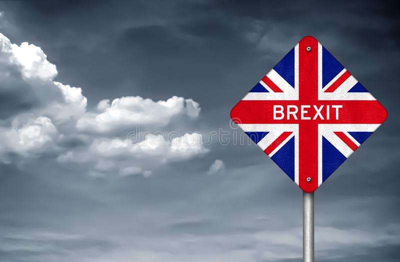 Brexit. Withdrawal United Kingdom from the European Union stock image