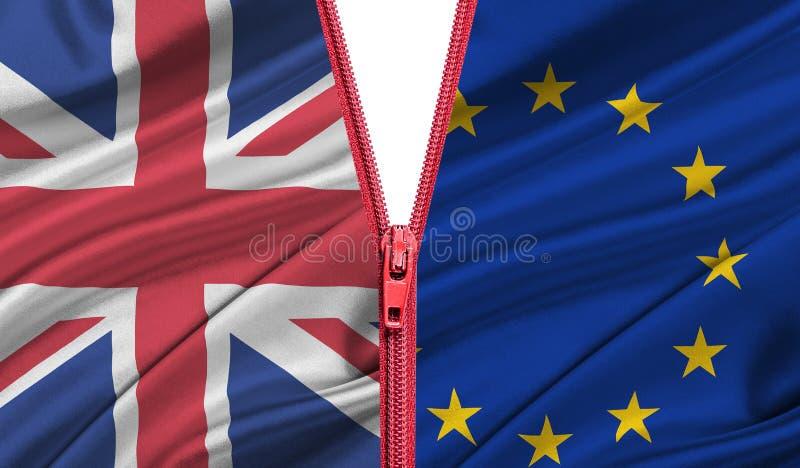 Brexit Wyjście Wielki Brytania od Europejskiego zjednoczenia - pojęcie ilustracja wektor