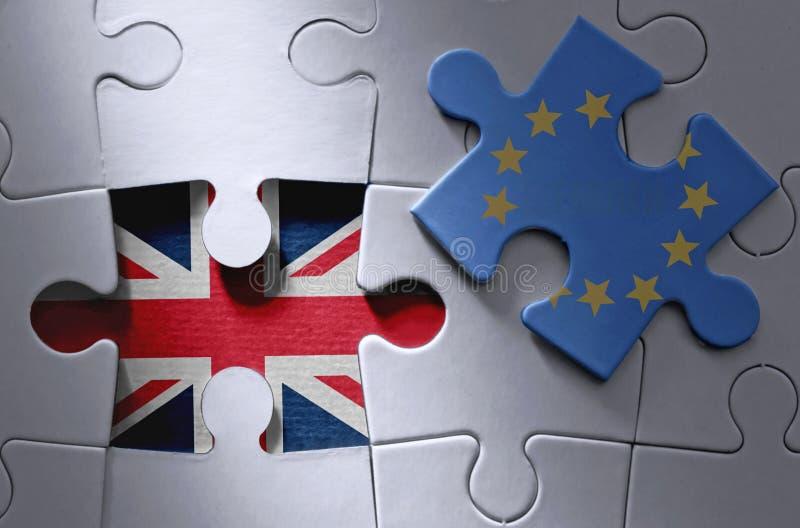 Brexit wyrzynarki łamigłówki pojęcie fotografia stock