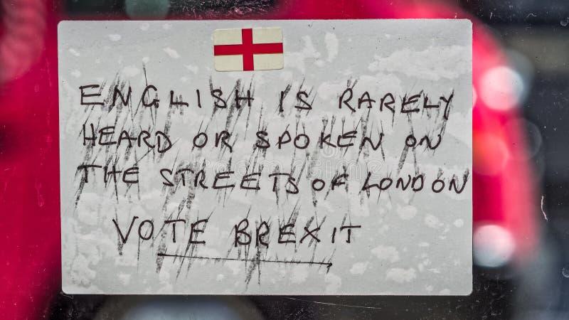 Brexit zawiadomienie zdjęcia royalty free