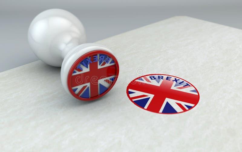 Brexit znaczek, Anglia i wspólnota europejska, ilustracji