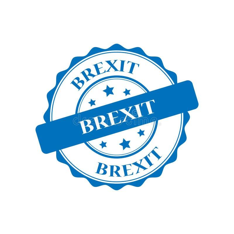 Brexit znaczka ilustracja ilustracji