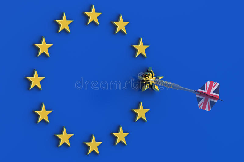 Brexitconcept in Groot-Brittannië vector illustratie